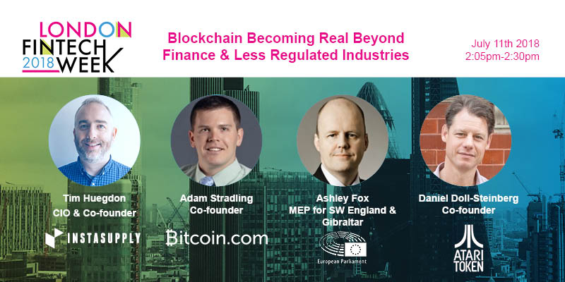 London FinTech Week: Blockchain Becoming Real Beyond Finance and Less Regulated Industries